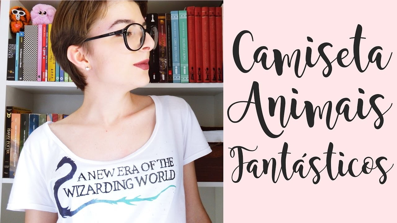 DIY - Camiseta Animais Fantásticos e Onde Habitam l Fantastic Beasts and Where to Find them