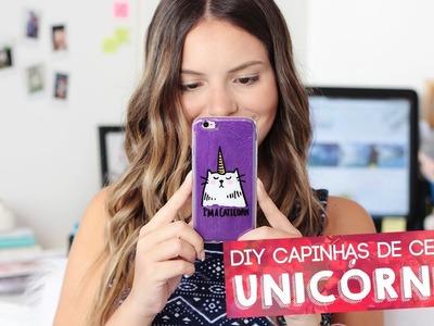 DIY Capinha de celular de unicórnio