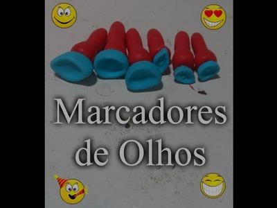 DIY-- COMO FAZER MARCADORES DE OLHOS-- BISCUIT