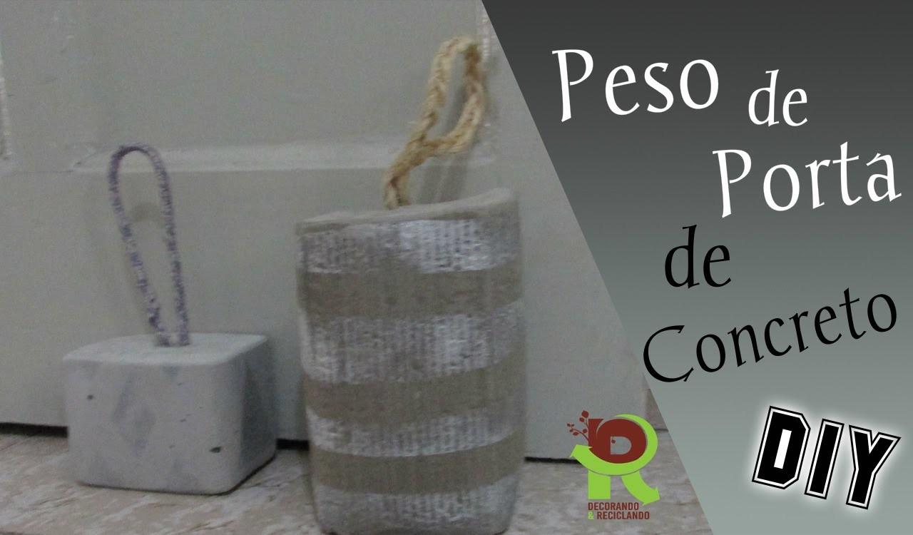 DIY :: Peso de porta de CONCRETO