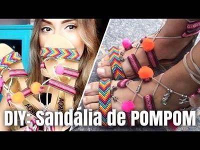 DIY: Sandália de POM POM