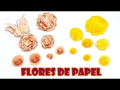 Flores de Papel Sulfite e Filtro de Café ( ARTESANATO, DIY, RECICLAGEM )