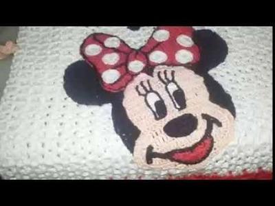 Minnie ou mickey em crochê parte 2 rosto