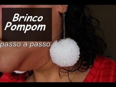 NM Bijoux - Brinco Pompom - passo a passo