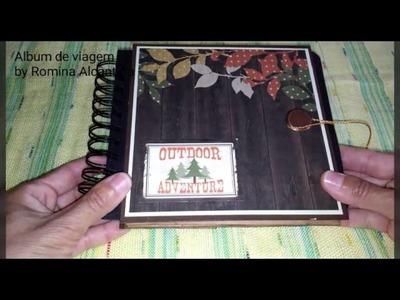 Album de viagem em scrapbook