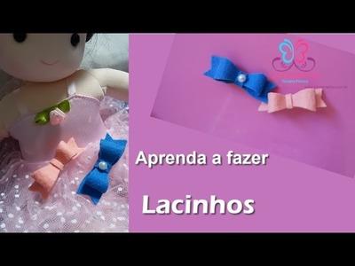 Aprenda a fazer Lacinho | DIY Lacinho para bebê - Passo a Passo como fazer Laço
