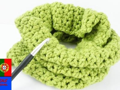 Cachecol em loop infinito | Crochet e nós