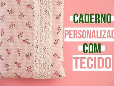 Caderno Personalizado Com Tecido ♥