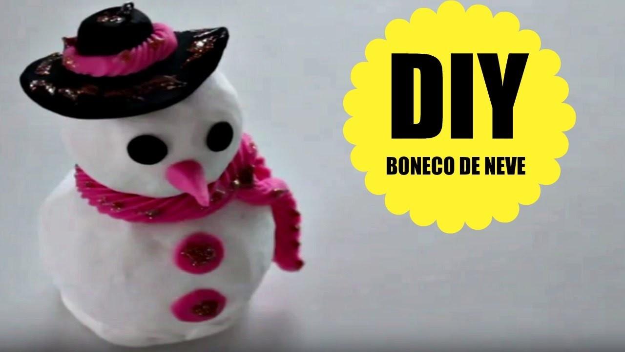 DIY - BONECO DE NEVE - BISCUIT - POLYMER CLAY - MASSA DE MODELAR - TUTORIAL