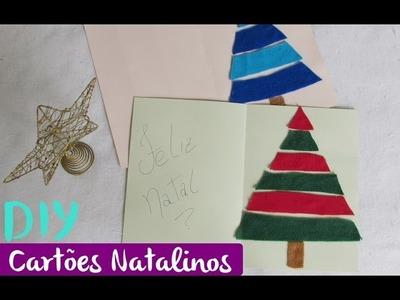 DIY  Cartão Natalino com feltro -  Christmas card