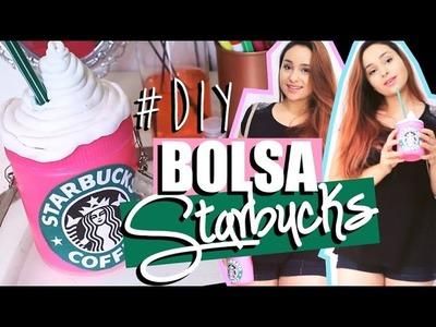 DIY: COMO FAZER BOLSA STARBUCKS SEM COSTURA | BOLSAS DIVERTIDAS - O Blog da Ka ♥