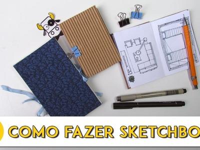 DIY - Como fazer um Sketchbook (sem costura) - Arquitetura & Arte