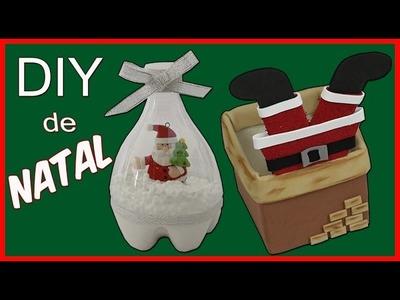DIY de Natal #1 -  Fácil e lindo - Lixo com Arte de Natal