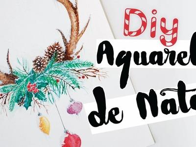 DIY: Pintura Aquarela de Natal! Por Isabelle Verona