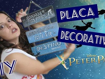 DIY :: PLACA DECORATIVA :: Peter Pan :: Caixote Reciclado