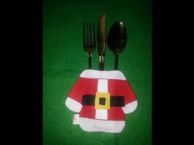 DIY porta talher natalino