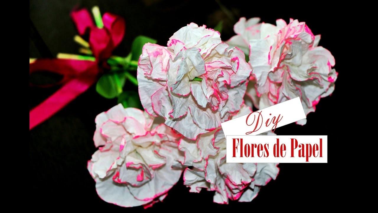 DYI- COMO FAZER FLORES DE PAPEL - Paper flowers