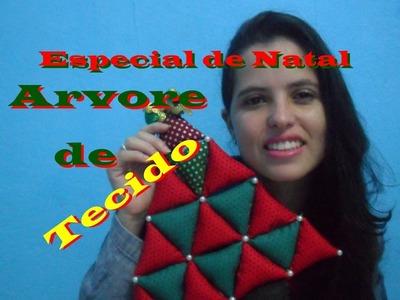 Especial de Natal ♥ Diy: Árvore de Tecido♥(Ft. TIC THAT IS COOL )
