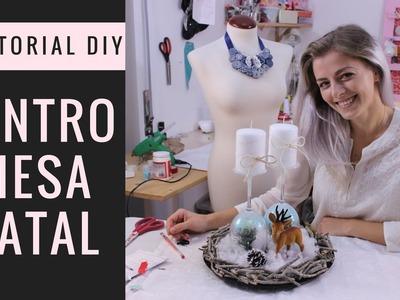Tutorial DIY - How to make a christmas centerpiece | Como fazer um centro de mesa de natal rústico
