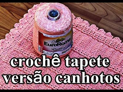 ⭕ Versão Canhotos | Tapete de Crochê Alto Relevo | Left Handed Crochet