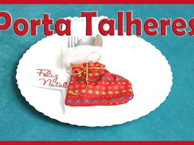 Botinha Porta Talheres Decoração de Natal ( DIY, Ideias e Decorações)