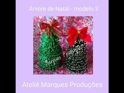 DIY - Árvore de Natal de E.V.A. - Modelo 3