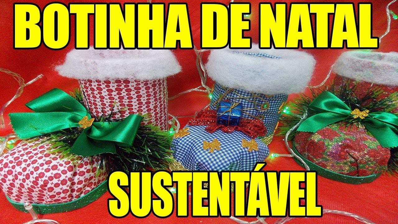 DIY* BOTINHA DE NATAL PORTA TRECOS COM GARRAFA PET !!!