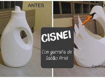 DIY - Cisne Reciclável (de embalagem arriel )