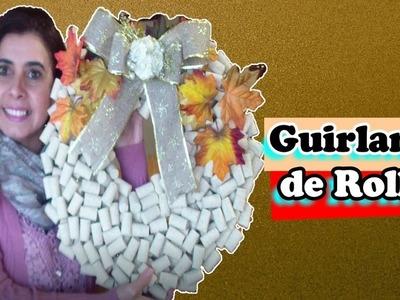 DIY, COMO FAZER GUIRLANDA DE ROLHAS, ENFEITES DE NATAL, MARLINDA CANONICO