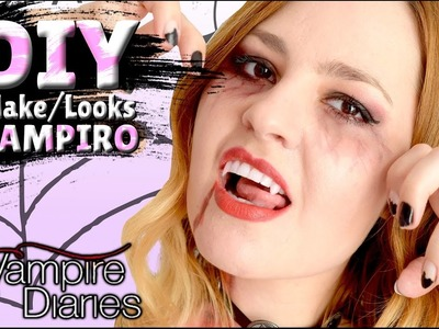 DIY - DENTE PERFEITO DE VAMPIRO + Make + LOOKS VAMPIRE DIARIES (Ft Edu Wizard e Ri Lopes)