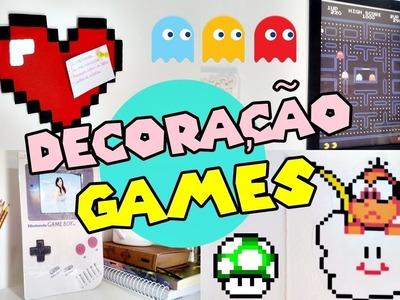 DIY GEEK: DECORAÇÃO GAMES - Super Mario.Pac Man.Pixel