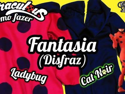 DIY Miraculous: Como fazer a Fantasia. Roupa da Ladybug e do Cat Noir | Corujices da Lu