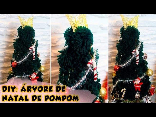 DIY - Natal: Como fazer uma árvore de Natal de pompom