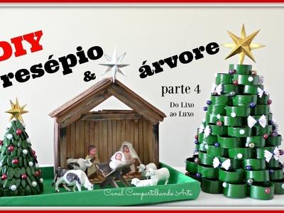 DIY:  Presépio e árvore para o Natal - DO LIXO AO LUXO #4 - Compartilhando Arte