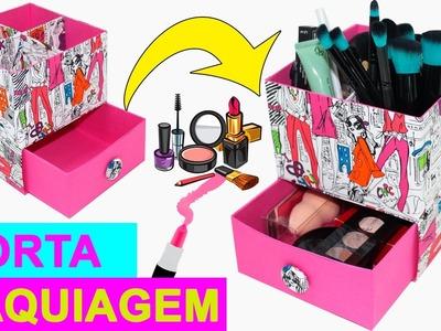Organizador de Maquiagem  - DIY  -  Segredos de Aline