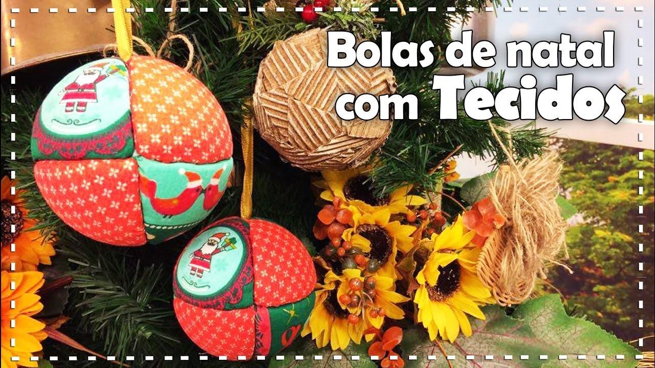 BOLAS DE NATAL COM TECIDOS 2   DIY - Dica de Arte