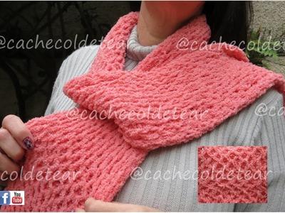 Cachecol em tear de pregos, manual scarf - artesanato