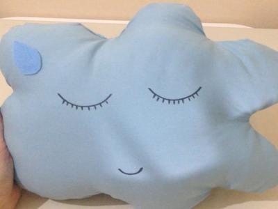 Como Fazer Almofada sem Costura de Nuvem - Artesanato DIY