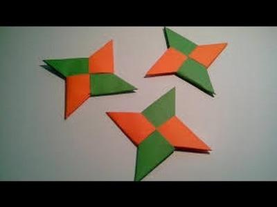 Como hacer la estrella Ninja en Origami (Manualidades)