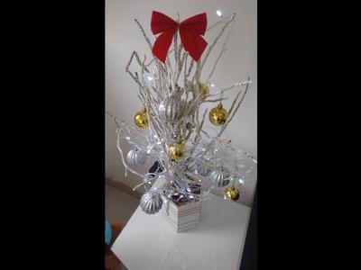 DIY: Árvore de Natal com Galho Seco de  Coqueiro