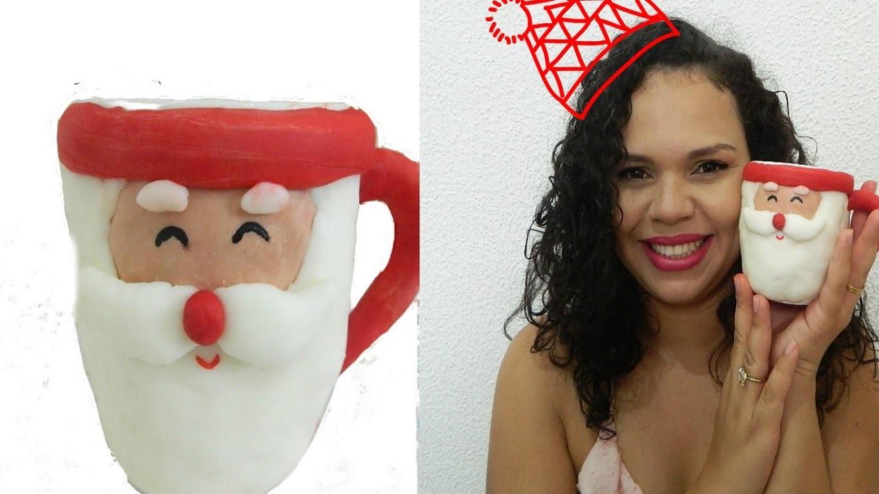 DIY.CANECA PAPAI NOEL. Especial de natal #2 - Catiane Azevedo