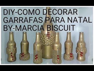 DIY-COMO DECORAR GARRAFAS PARA O NATAL
