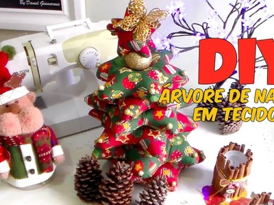DIY - ENFEITE DE NATAL - ARVORÉ EM TECIDO