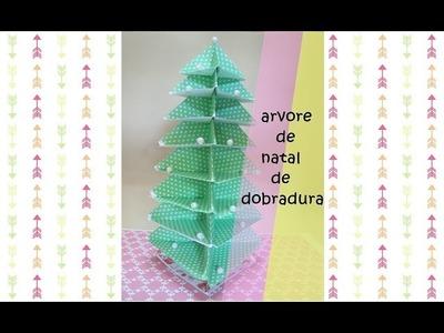♥Diy faça você mesma decoração arvore de natal  de papel♥