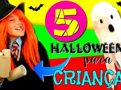 DIY Halloween * manualidades com ROLO DE PAPEL * 5 IDÉIAS de manualidades com ROLOS DE PAPEL