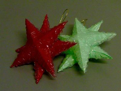 ESTRELA PARA O NATAL feita com cola quente - 3D star for Christmas with hot glue