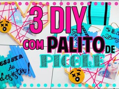 3 DiY com Palito de Picolé: Expositor de fotos, Porta Jóia Baú, Plaquinhas decorativas #2