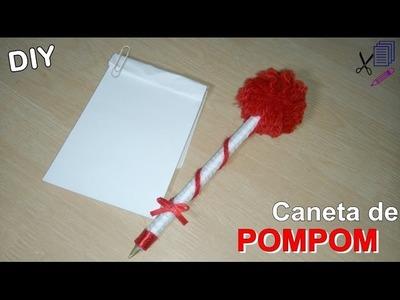 CANETA Decorada com POMPOM - DIY - Por Sil Soares #1canetaspersonalizadas