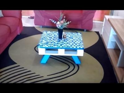 Como Transformar Paletes em Móveis: Mesa de Centro - DIY Casa Decorada