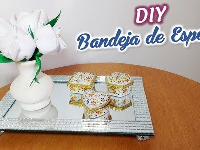 DIY: BANDEJA DE ESPELHO COM 15 REAIS | Danny Mendes